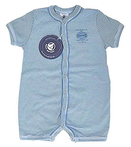 Petit Bateau Einteiler Strampler Langarm Schlafanzug blau-weiß Ringel 62821 (36 Mon.- 94)