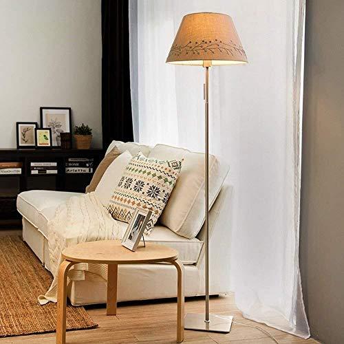 ZLININ Lámparas de suelo Nordic creativas sencillas modernas modernas para salón, dormitorio americano, sala de estudio, tres tipos de bombilla incluida, B (color: C)