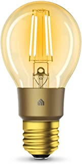 TP-Link KL60 KL60(UN) TP-Link Kasa Filament Smart Bulb, Warm Amber, No Hub Required, E27 Lamp Base, Control from Anywhere,...