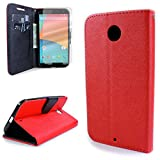 Google Nexus 6 Case and Screen Protector, CoverON [Carryall Series] Protective Wallet Pouch Flip Stand Phone Cover Case for Motorola Google Nexus 6 - Red & Black