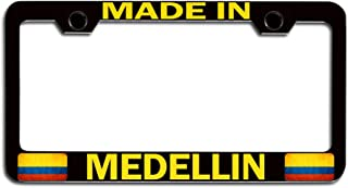 Makoroni - Made in Medellin Colombia Colombian Bl Steel License Plate Frame, License Tag Holder