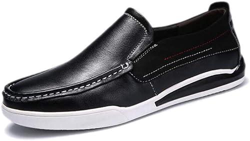 Chaussures Cuir Chaussures Cuir Chaussures Habillées Hommes Rondes Rondes Douces Rondes Saison Saison Antidérapant Randonnée Plage Couleurs Cachemire Sports,noir-39