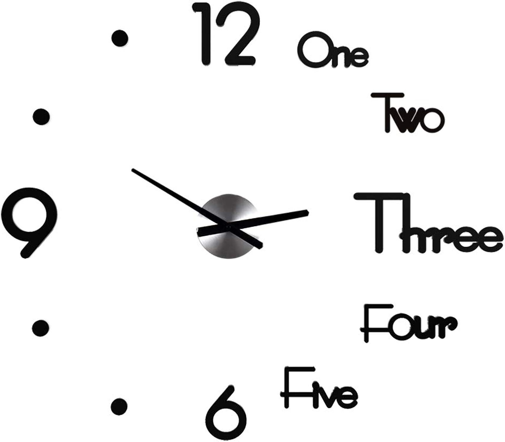 Tienda 2018 WALL CLOCK 1 Reloj Reloj Reloj de Parojo Silencioso Digital Personalizado con PerforacióN 3D, EstéReo, DecoracióN de Parojo de AcríLico Creativa de Bricolaje, FáCil InstalacióN (TamaO  68 Cm  60 Cm)  venta caliente