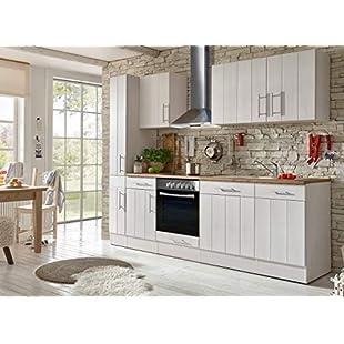 Customer reviews respekta Kitchen Kitchenette Fitted kitchen Country kitchen Fitted Kitchen Fully fitted kitchen 250 cm white:Kisaran