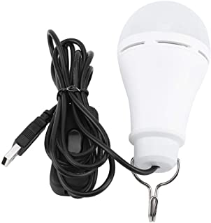 Haofy Bombilla LED USB Camping Luz de Emergencia portátil USB Luces Colgantes Recargables para Garaje Almacén Coche Camión Barco de Pesca Al Aire Libre