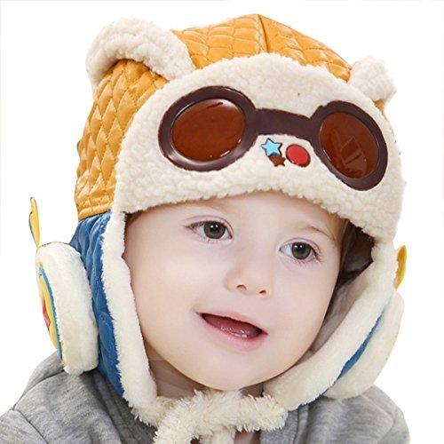 Butterme Cool Mode Crochet Earflap Chapeaux Hiver Chaud Chapeau Pilote Aviator Chapeaux pour bébé Enfants Filles Garçons