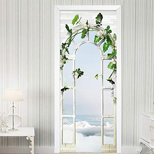 Mural Para Puerta Puerta De Delfín Imprime Sala De Estar Dormitorio Extraíble Autoadhesivo Papel Pintado Puertas 95 X 215 cm