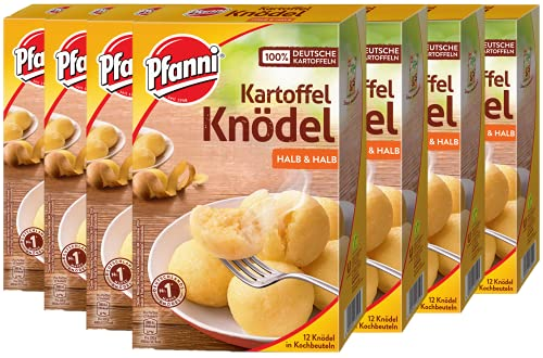 Pfanni Kartoffel Knödel der Klassiker Halb & Halb, 12 Stück, 7er Pack