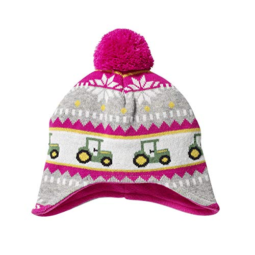 John Deere Girls' Winter Hat, Magenta, Toddler