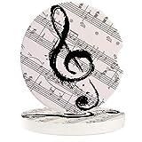 SQT 2 4 6 unids/Set Posavasos de cerámica para Coche música Impermeable Notas partituras Taza de Coche Alfombrilla de Bebida Accesorios de decoración para Coche