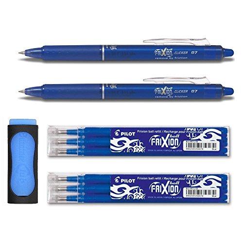 Juego de 2bolígrafos Frixion Clicker azules