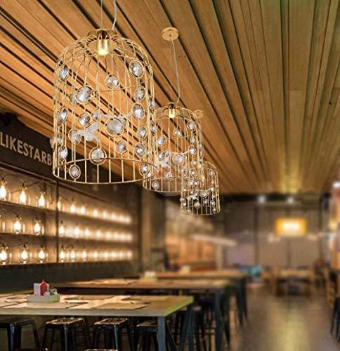 YANQING duurzame hanglamp moderne gouden vogel kooi kristal vogel winkel venster model kamer restaurant kinderkamer decoratie LED 30 * 43 cm hanglamp