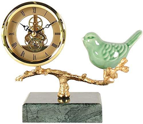 TYNS Reloj de sobremesa de repisa Vintage Reloj de Mesa Antiguo rústico Europeo Armarios de Cocina Reloj de Mesa Atractivo para la decoración de la Sala de Estar (Color: Negro)-Negro