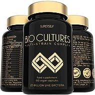 Probiotics Bio Cultures Complex - 20 Billion CFU & 15 Live Strains - 60 Acid-Resistant Capsules - Ve...