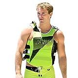Jettribe US Coast Guard Life Vest Hyper Series | Type 3 PFD | Side-Entry Jet Ski Vest (Green, S/M)
