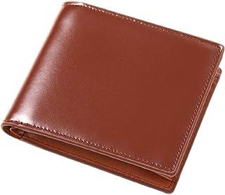 MURA 財布 メンズ 二つ折り 本革 薄型 小銭入れ コードバン調 カード入れ