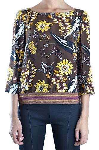 Prada Luxury Fashion Damen MCBI15698 Braun Seide Bluse   Jahreszeit Outlet