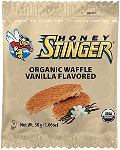 16 Count Honey Stinger Organic Waffle, Vanilla, Sports Nutrition (1.06 Ounce)