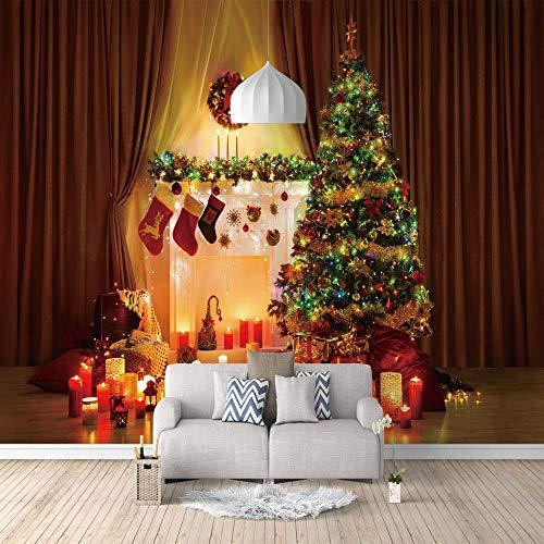 3D Fototapete Weihnachtsbaum Vlies Wandtapete Moderne Wanddeko Wohnzimmer Schlafzimmer Büro-200X140Cm
