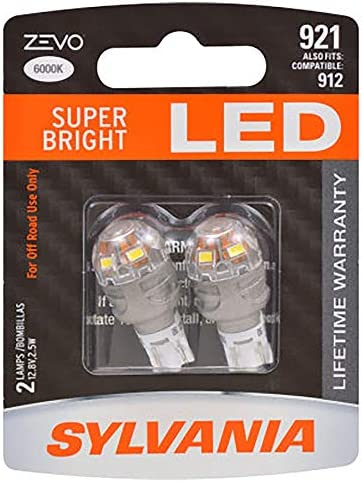 SYLVANIA - 921 Long Life Miniature - Bulb, Ideal for Interior Lighting - Cargo and License Plate (Contains 2 Bulbs)