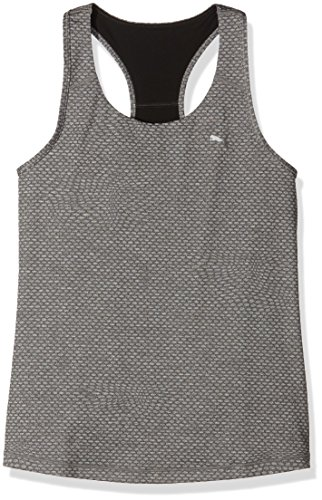 PUMA Damen Tanktop Essential Graphic RB Tank Top, medium gray heather/Metallic print, L