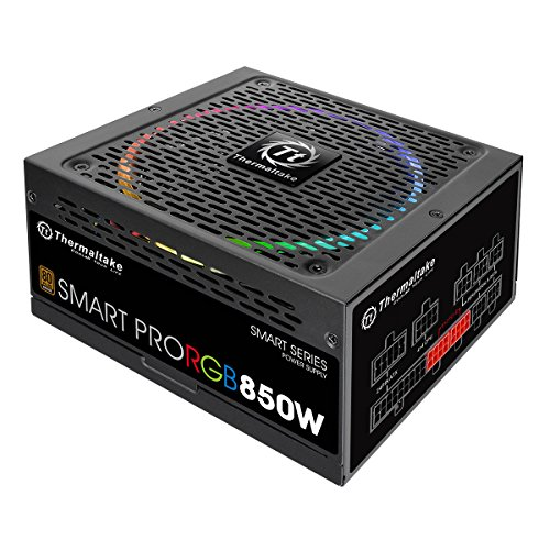 Thermaltake Smart Pro RGB Alimentatore da 850 W, Modular 80+ Bronze, Nero