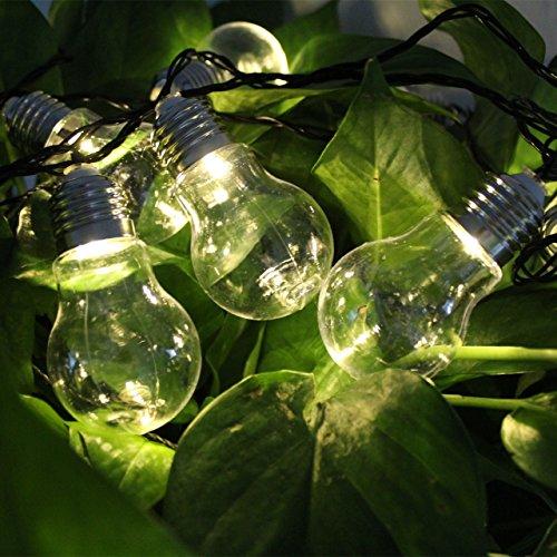 CFLFDC Kandelaar, grote kogellamp, touw, lichtbediening, waterdicht, klein, plug-in 3,5 m, 20 licht 220 V, warmwit licht, transparant