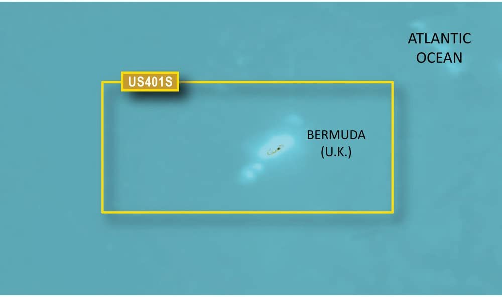 Garmin BlueChart g2 Bermuda Saltwater Map microSD Card