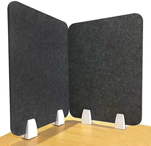LUOSFUH Schreibtischzubehör Teiler Schreibtischteiler Schrankplatte mit 4 Clips