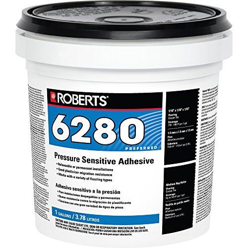 Roberts R6280-1 Flooring Adhesive, 1 Gallon, Milky White