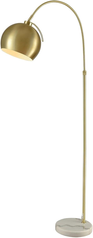 Diamond Lighting D3363 Floor lamp gold Metal, White Marble