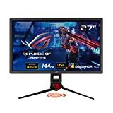 ASUS ROG Strix 27' 4K HDR DSC Gaming Monitor (XG27UQ) - UHD (3840 x 2160), IPS, 144Hz, 1ms, Adaptive-Sync, G-SYNC Compatible, DisplayHDR 400, 90% DCI-P3, Aura Sync, VESA Mountable, DisplayPort, HDMI