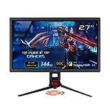 "ASUS ROG Strix XG27UQ 27"" HDR DSC Gaming Monitor, 4K (3840 x 2160), 144Hz, IPS, 1ms, Adaptive Sync, DisplayHDR 400, DCI-P3 90%, Eye Care, HDMI DisplayPort USB, Aura Sync, BLACK"
