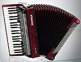 HOHNER BRAVO III 120 ROUGE Accordéon Accordéon chromatique Clavier piano
