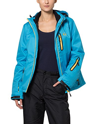 Ultrasport Damen Softshelljacke Serfaus Jacke, Vivid Blue/Mimosa, XS