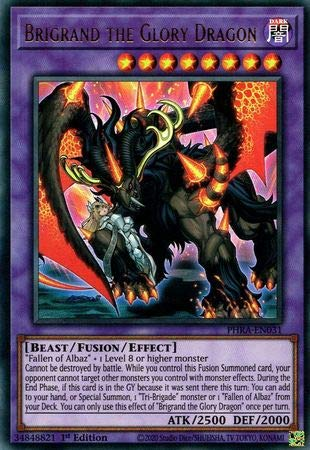 Brigrand The Glory Dragon - PHRA-EN031 - Ultra Rare - 1st Edition