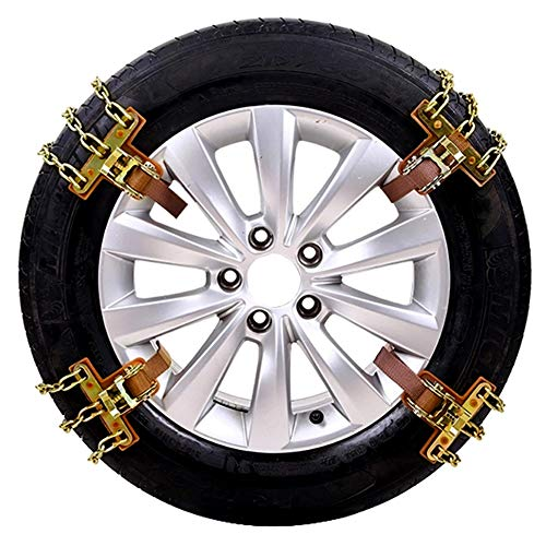 JT Voiture Pneu Anti Skid Chain Cars SUV Hiver Généralités Neige,8Large,215/285MM