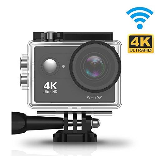 Zenoplige Action Cam 4K Wifi Camera Impermeabile Sport 12MP FHD 1080P 170°Grandangolare 2.0' Schermo LCD, Sport Cam 4k Fino a 30 metri Sommergibile, 2 Batterie + Custodia Professionale y Vari Accessori