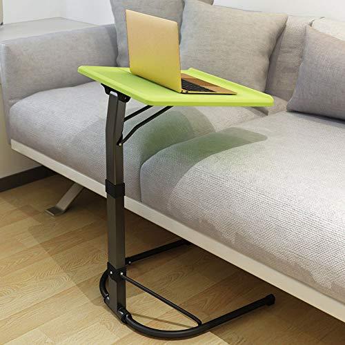 Multifunctionele Computer Desk, in hoogte verstelbare bijzettafel, 3-Files Til Verstelbare en Desktop draaibare 90 °, voor het Bureau van het Huis,Green
