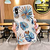 Cocomii Palm Leaf Clear iPhone Xs Max Case, Slim Thin