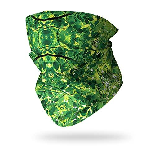 Ruffnek Vert Feuilles / Camouflage Design Multifonction Chauffe Cou pour Homme, Femme & Enfants pour Camping, Militaire, Chasse, Camouflage Accessoires