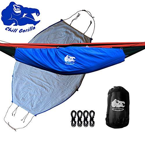 Chill Gorilla Hammock Underquilt. Lightweight Camping Quilt. Hammock Camping Accessories. Blue