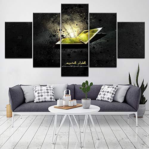 LPHMMD 5 schilderijen canvas schilderijen muur kunst druk HD 5 stuks canvas schilderij nachtkastje achtergrond decoratie huis poster kunstwerk