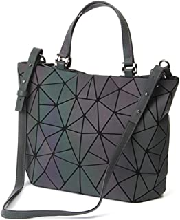 b9ea497b3f HotOne Geometric Luminous Purses and Handbags Shard Lattice Eco-Friendly  Artificial Leather Rainbow Holographic Purse
