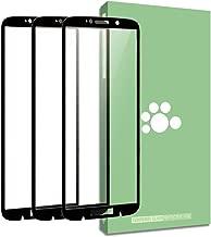 Fit Moto Z3 Screen Protector-(3 Pack) SEEU Ultra-Thin Anti-Scratch Anti-Fingerprint HD Clear 9H Hardness Full Coverage Silk Print Tempered Glass Protective Film Compatible Motorola Moto Z3 6.0