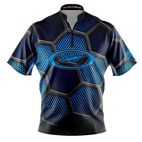 Logo Infusion Bowling Dye-Sublimated Jersey (Sash Collar) - Storm Style 0571ST (XL) Blue