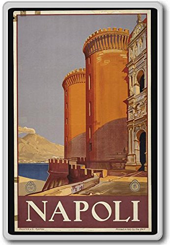 Napoli, Italy - Vintage Travel Fridge Magnet - Calamita da frigo