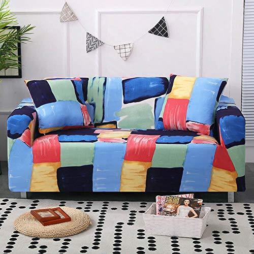 YYBF Funda de sofá Gris Fundas de Muebles elásticas Fundas de sofá elásticas para Sala de Estar Funda de Asiento con Funda Deslizante Sofá de Spandex 1-4 plazas, Color 14,4-Seater (235-300cm)
