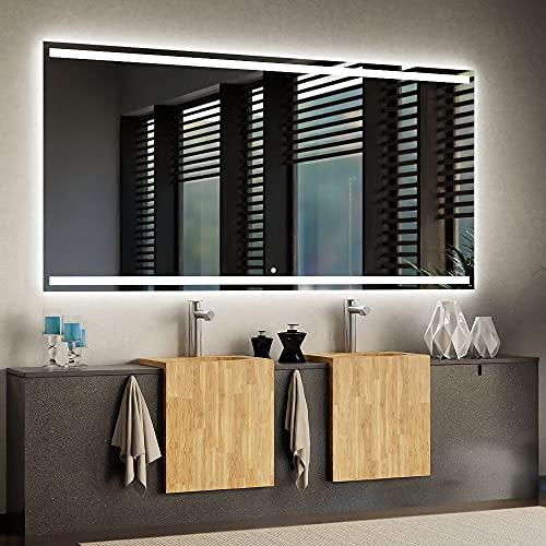 ARTTOR Espejo con Luz - Espejos De Baño - Decoracion Hogar - Espejos Decorativos - Muchos Tamaños - Pequeños y Grandes - Rectangulares y Cuadrados - M1ZD-30-50x80