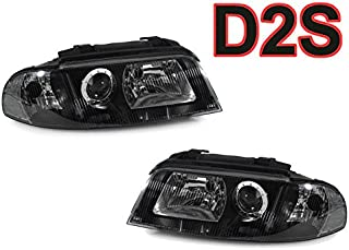 DEPO Black Clear Corner D2S Xenon Headlights For 1999-2001 Audi A4 / 2000-2002 S4 B5 - Compatible and Fits For Audi
